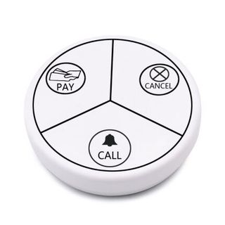 Self-generating electricity wireless calling system restaurant table buzzer white waiter call button with no lithium battery or dry battery