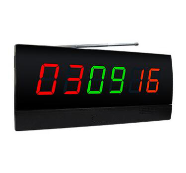 Wireless calling system number display panel screen monitor with 3 called numbers in 6 digits