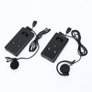 Nice looking whisper wireless radio tour guide system transmitter and receiver same design