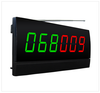 Wireless calling system number display panel screen monitor with 2 called numbers in 6 digits