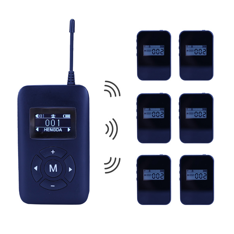 Wireless radio tour guide system transmitter K5 for trainings, interpreting and conference